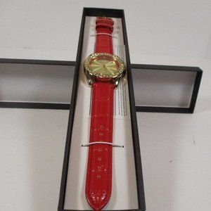 Christmas Manhattan By Croton Crystal Bezel Red